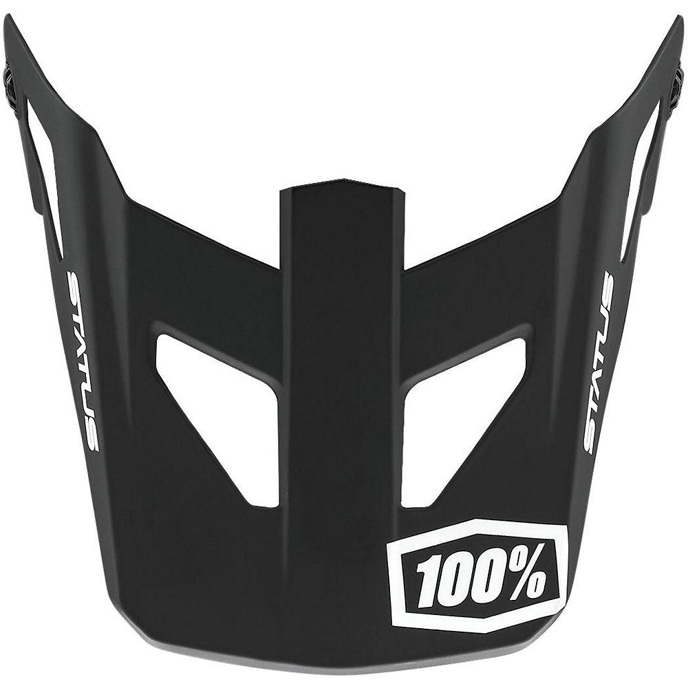 100% Status JR Replacement Visor  - Black - One Size, Black
