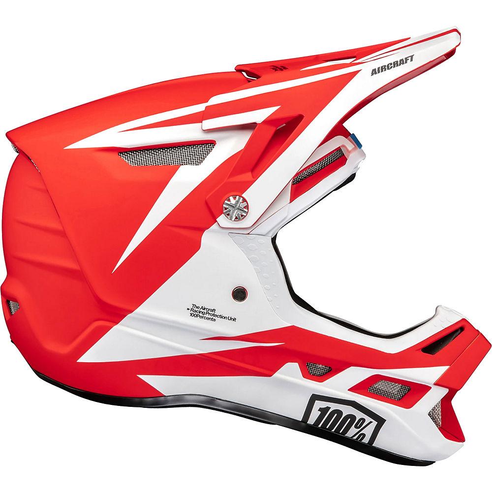 100% Aircraft Composite Helmet  - Rapidbomb-Red - XL, Rapidbomb-Red