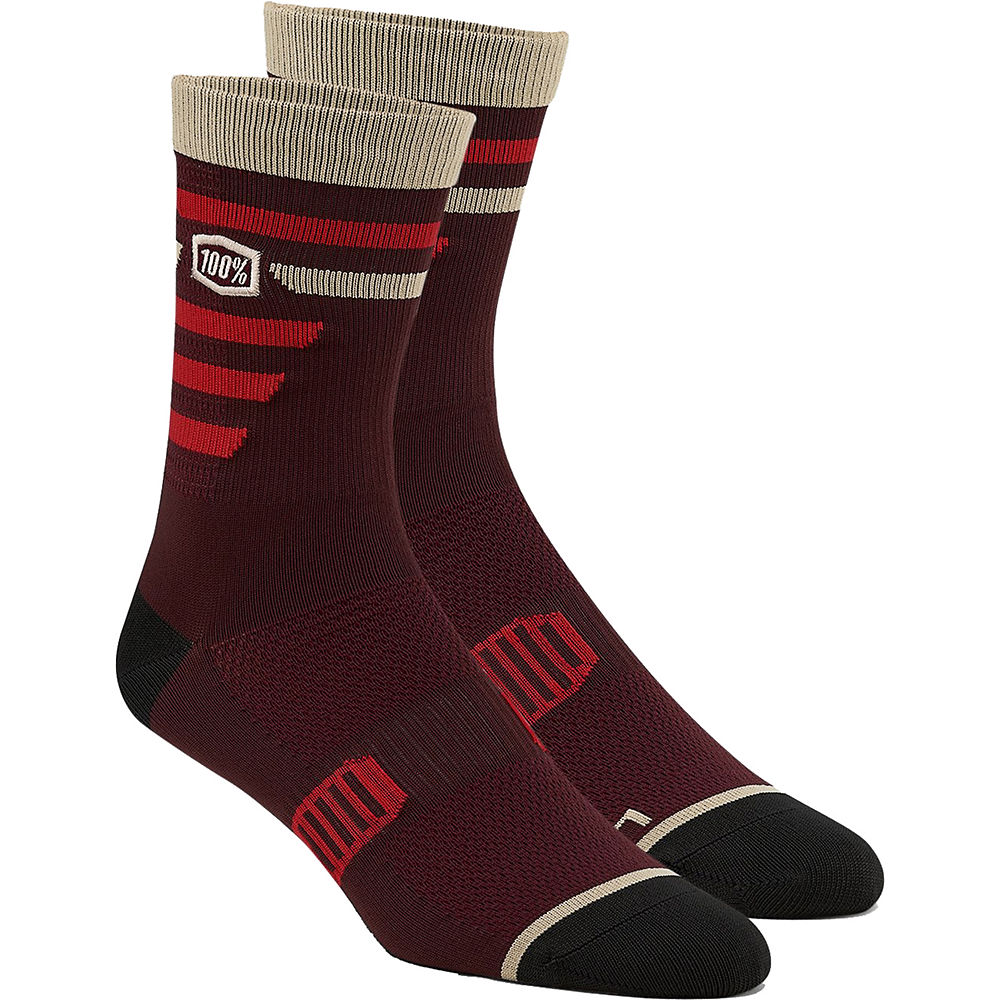 100% Advocate Performance Socks  - Brick - S/M, Brick