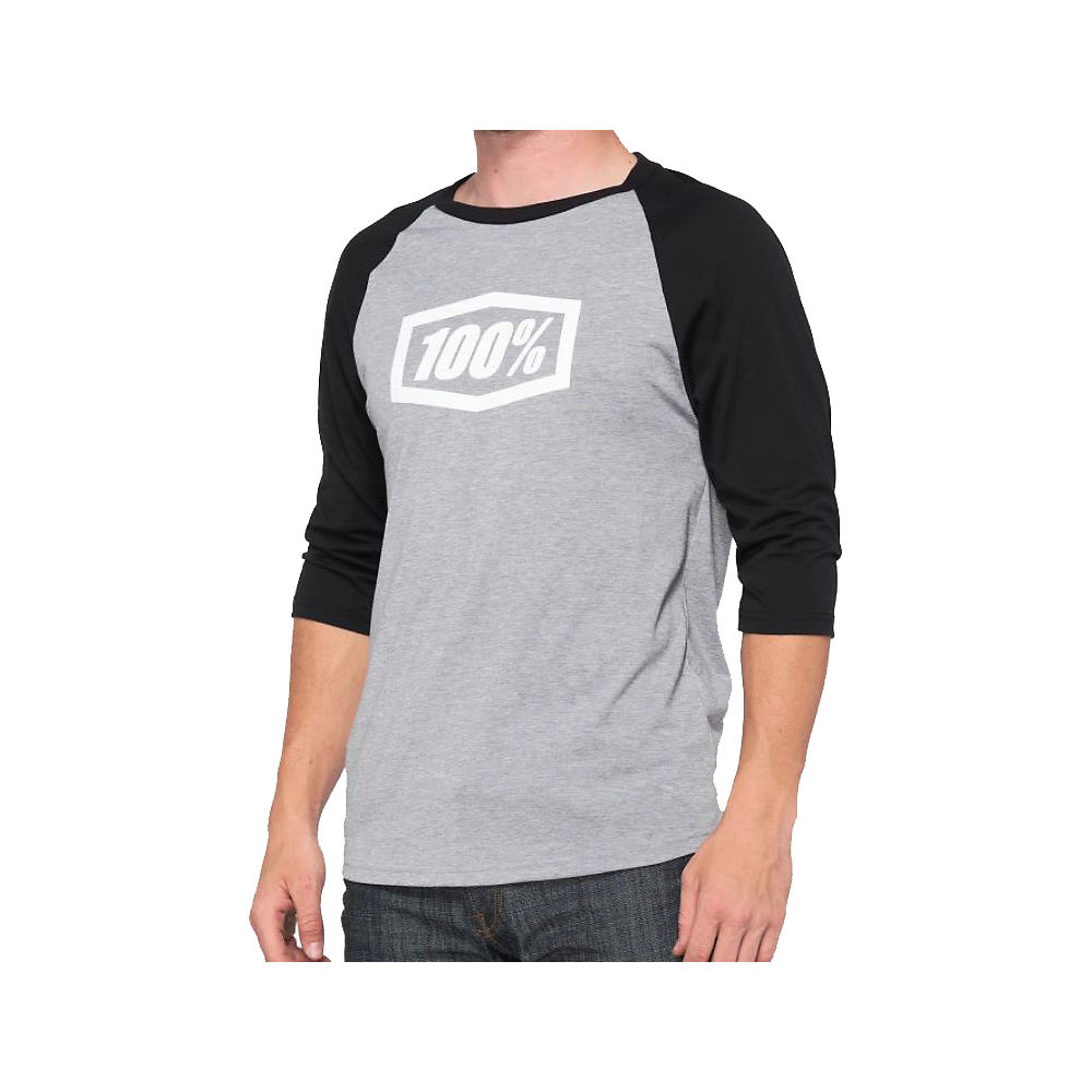 100% Essential 3-4 Tech Tee  - Grey-black - M  Grey-black