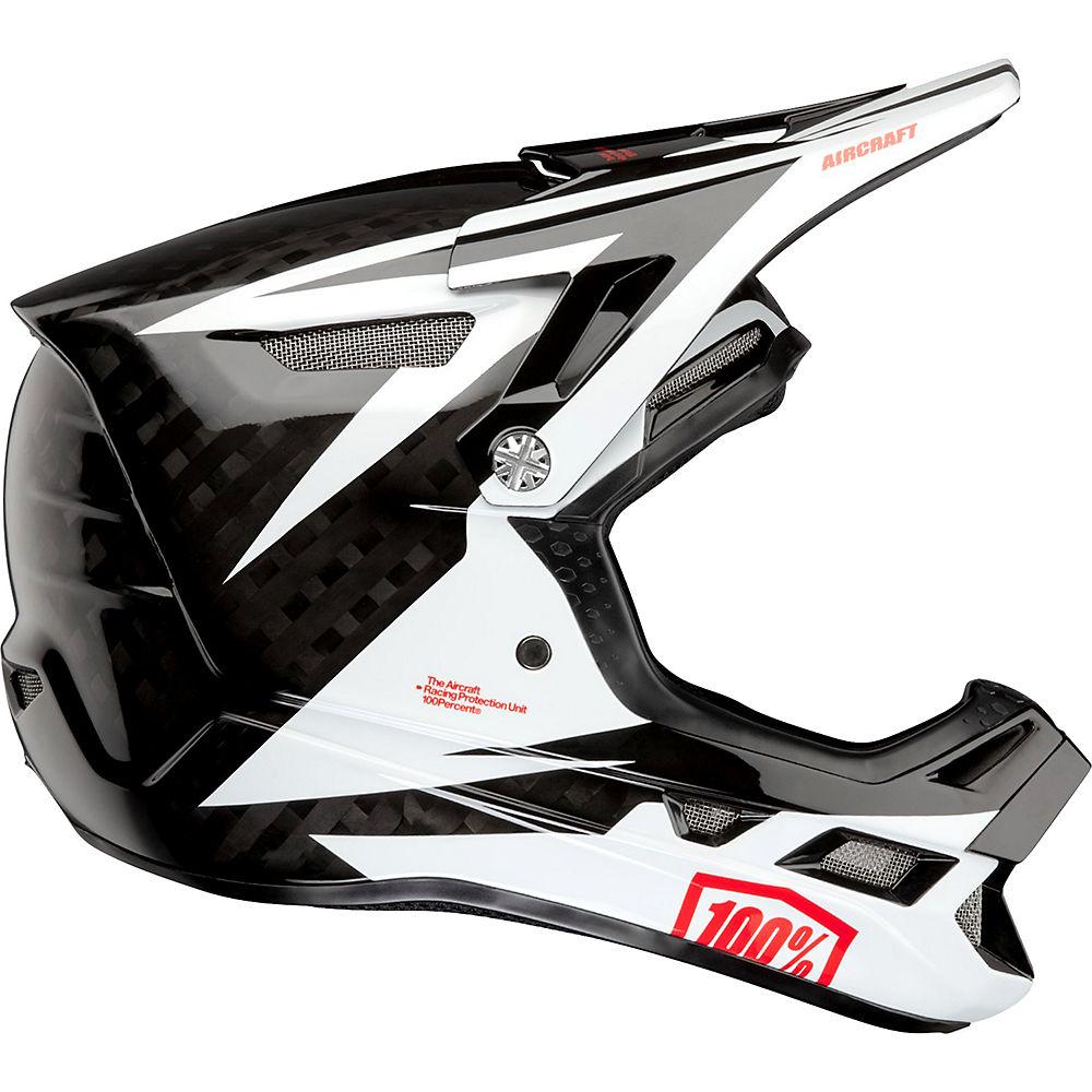 100% Aircraft Carbon MIPS Helmet  - Rapidbomb-White - XL, Rapidbomb-White