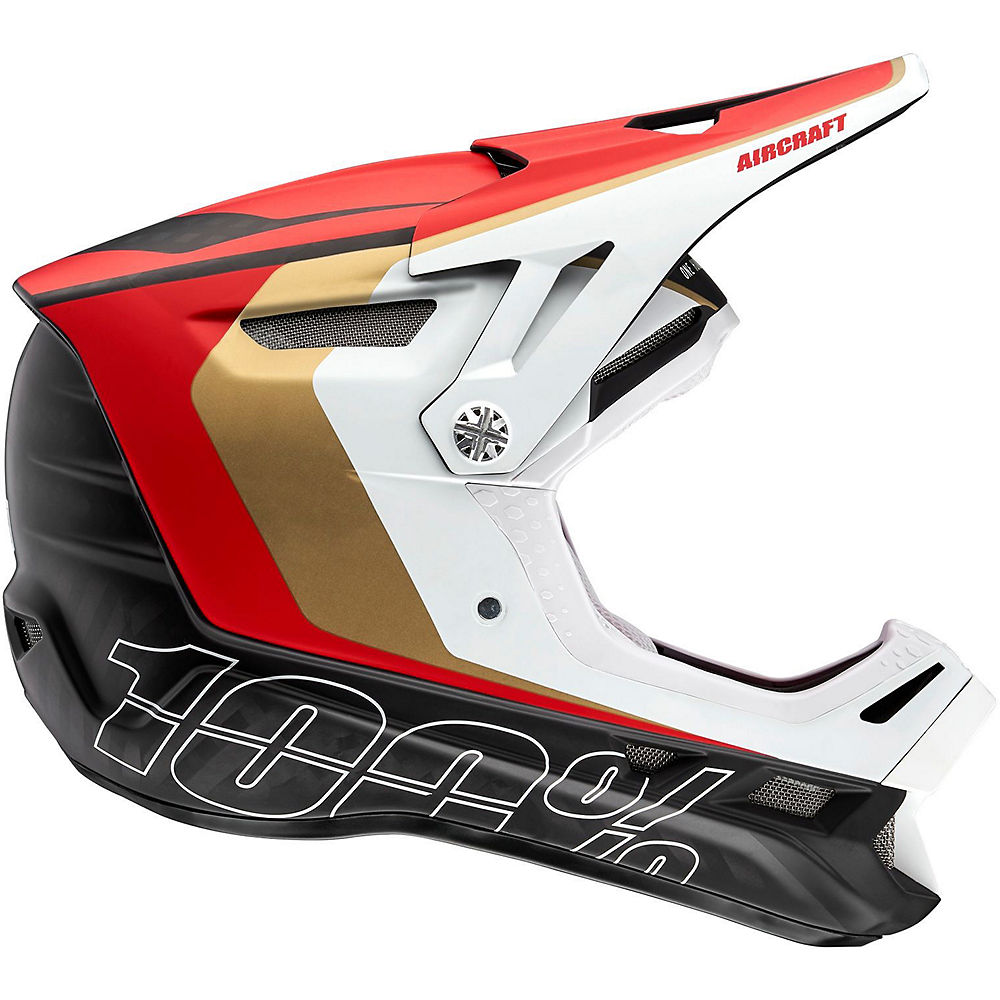 Image of 100% Aircraft Carbon MIPS Helmet - rosso, rosso