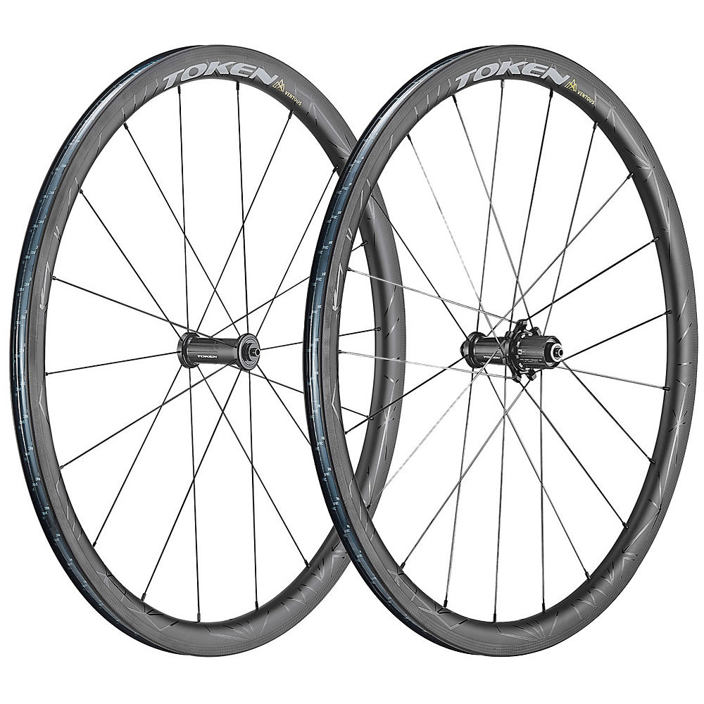 Token Zenith Ventous 36mm Carbon Wheelset - Black - Shimano  Black
