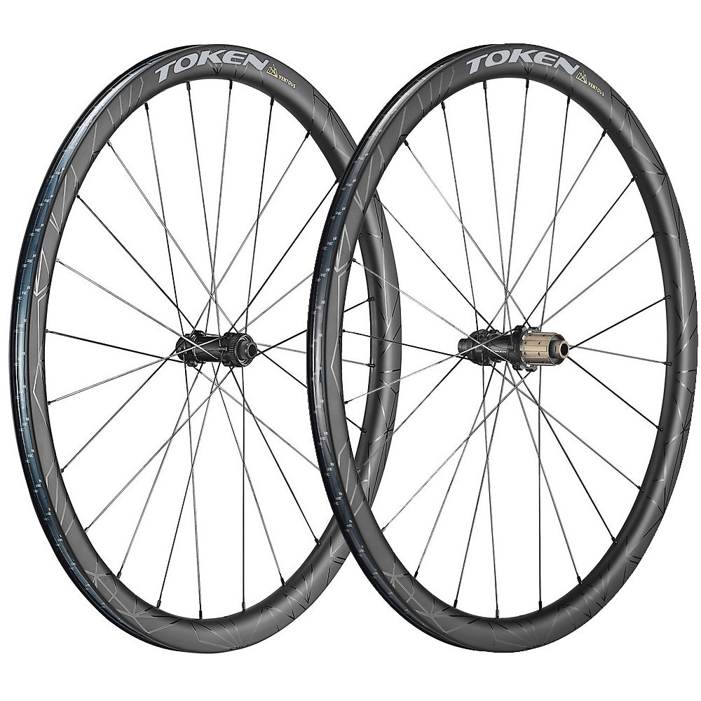 Token Ventous 36mm All-road Wheelset - Black - Shimano  Black