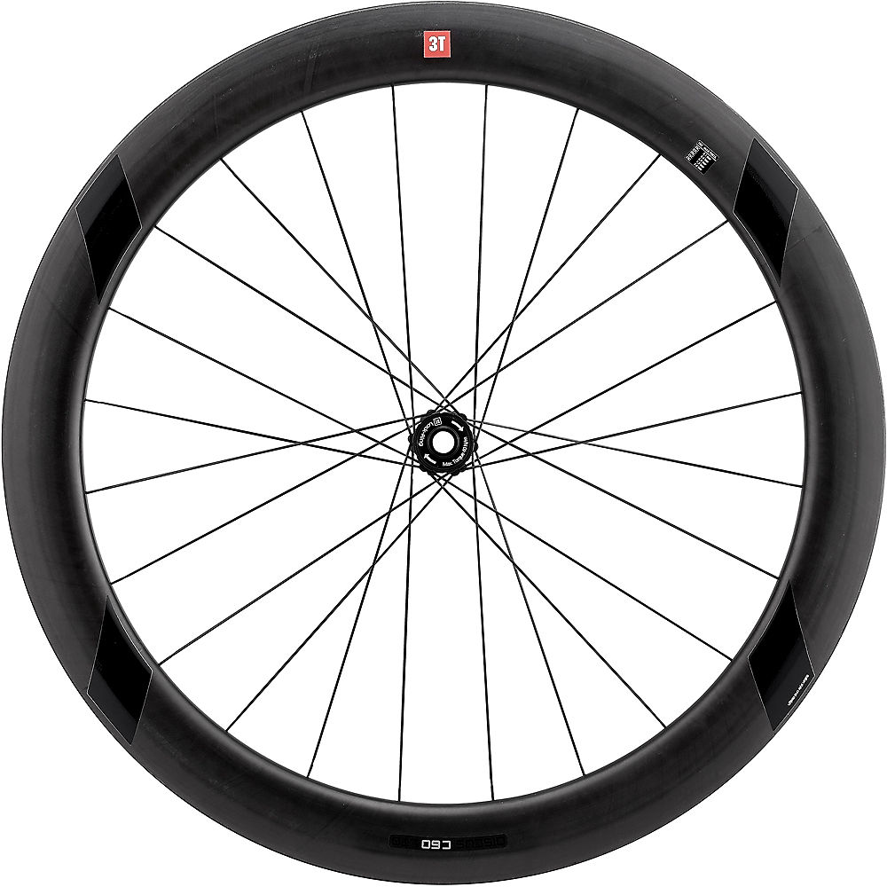 Image of 3T Discus C60 Ltd Stealth TR Front Wheel - Shimano, n/a