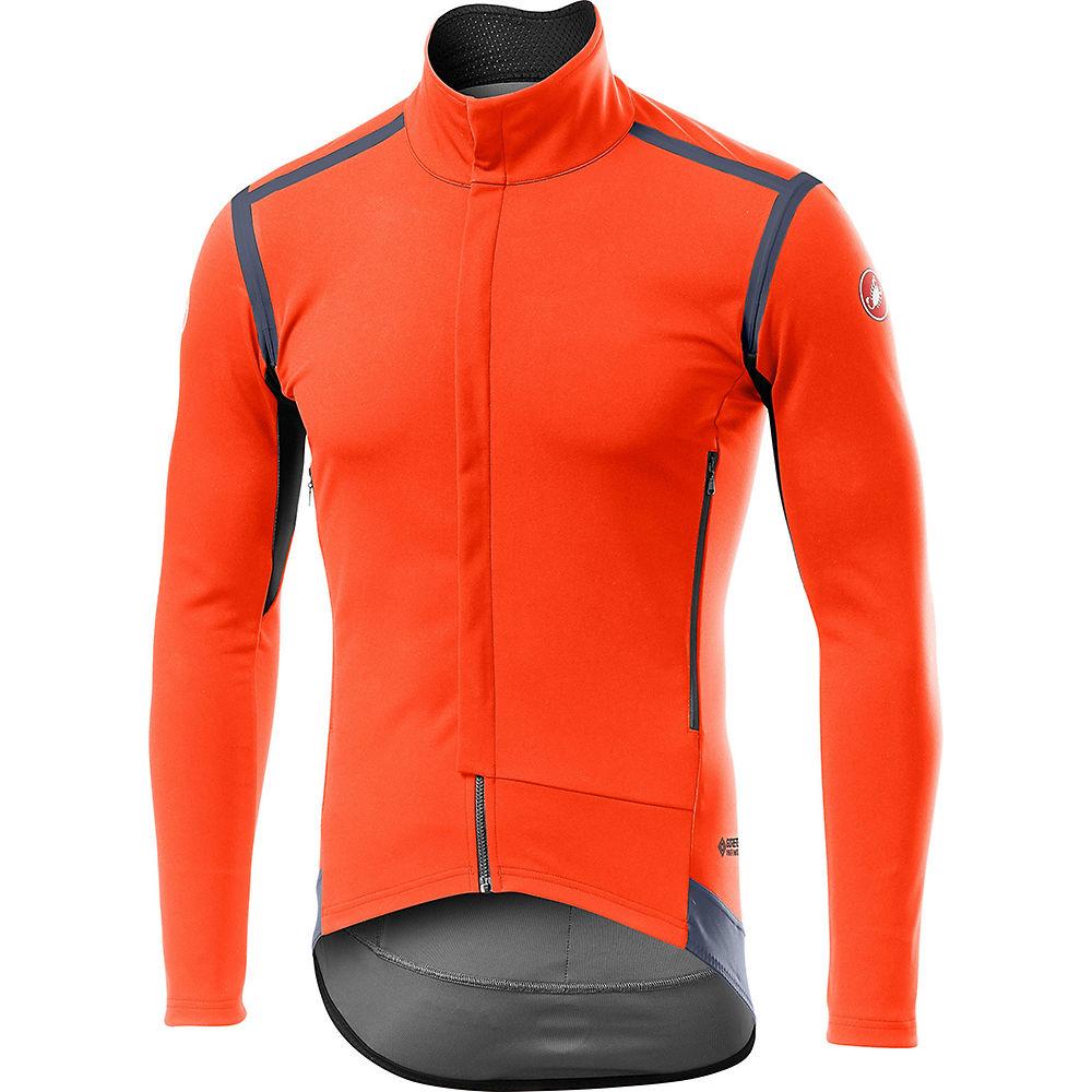 Castelli Perfetto ROS Long Sleeve Jersey  - Orange - M, Orange