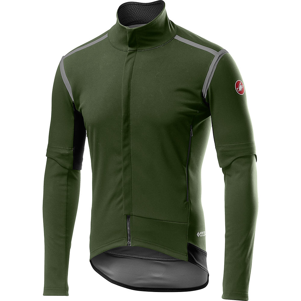 Castelli Perfetto Ros Convertible Jacket - Military Green - Xl  Military Green
