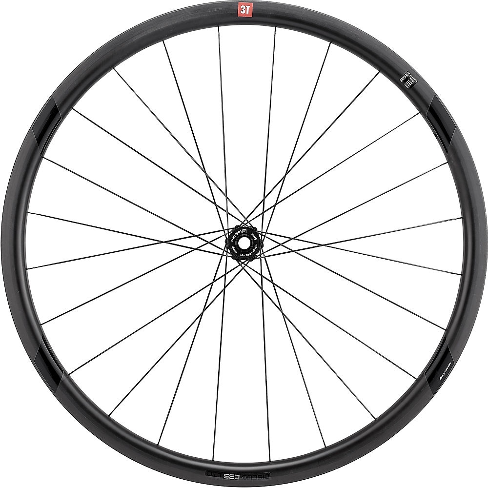 Image of 3T Discus C35 Ltd Team Stealth Front Wheel - Noir - Shimano, Noir