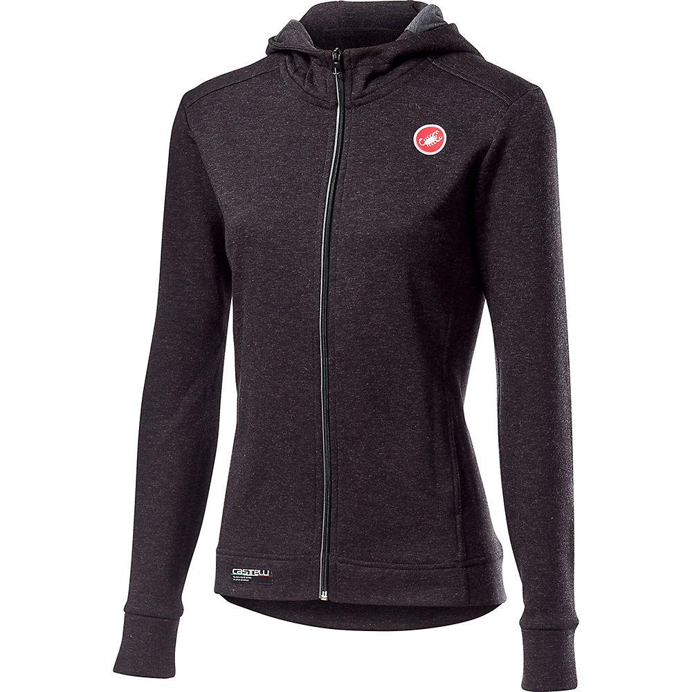 Castelli Women's Milano Full Zip Fleece - Melange Light Black, Melange Light Black