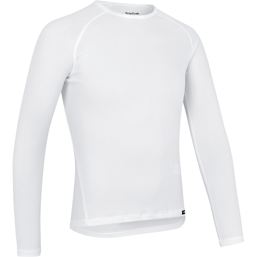 GripGrab Ride Thermal Long Sleeve Base Layer - Blanco - XXL, Blanco