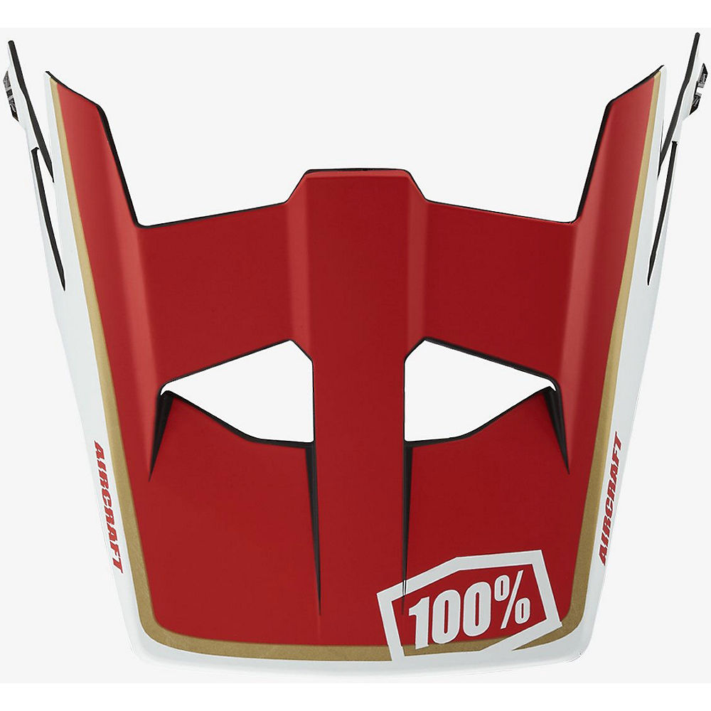 Image of 100% Aircraft Replacement Visor - rosso - One Size, rosso