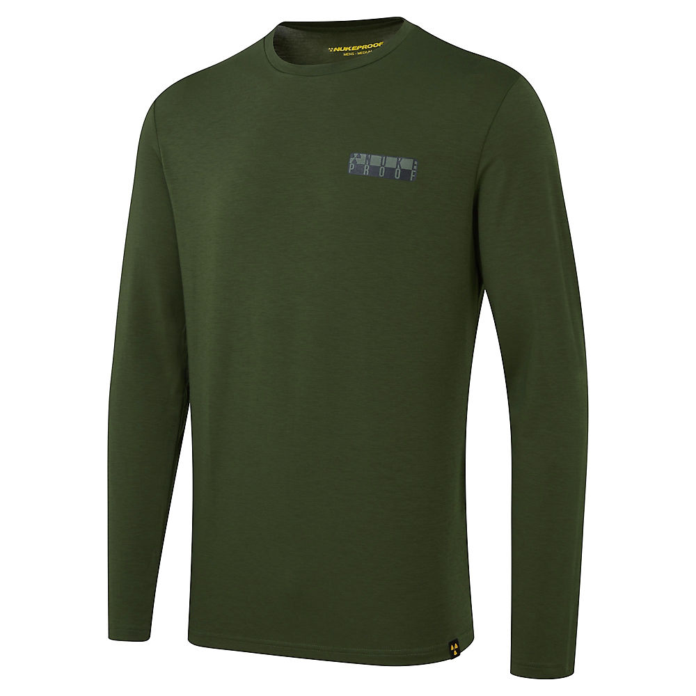 Nukeproof Outland Drirelease Long Sleeve Tech Tee - Khaki - M  Khaki
