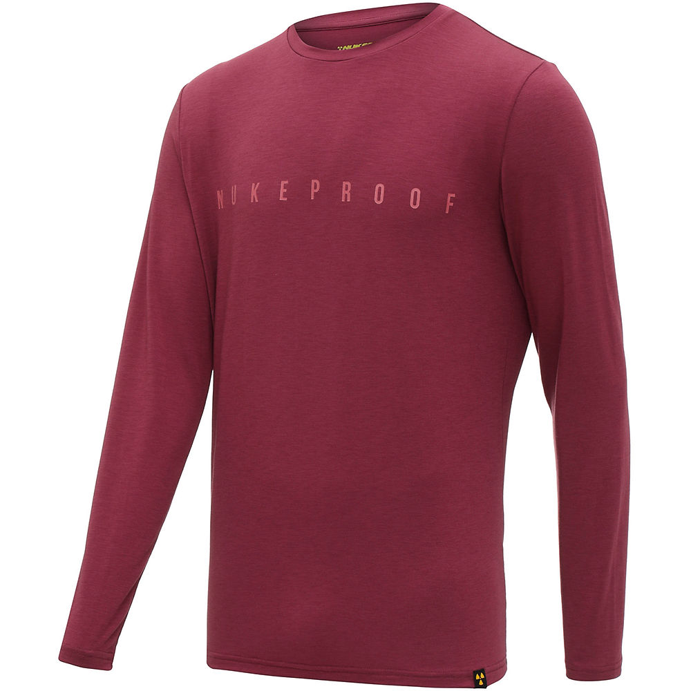Nukeproof Outland Drirelease Long Sleeve Tech Tee - Red - M  Red