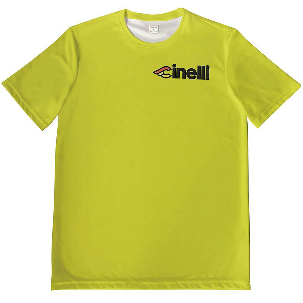Image of De Marchi Cinelli Tech Tee - Vert acide - XL, Vert acide