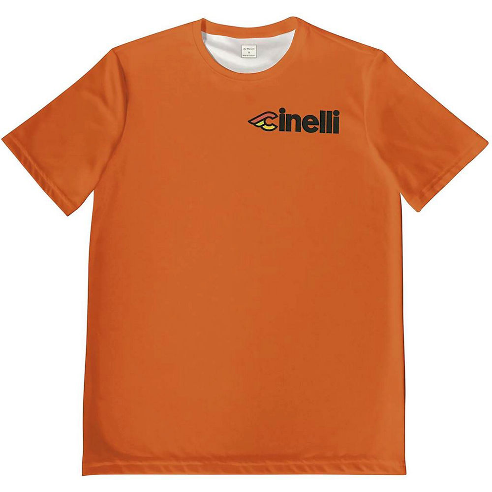 Image of De Marchi Cinelli Tech Tee - Orange - XL, Orange