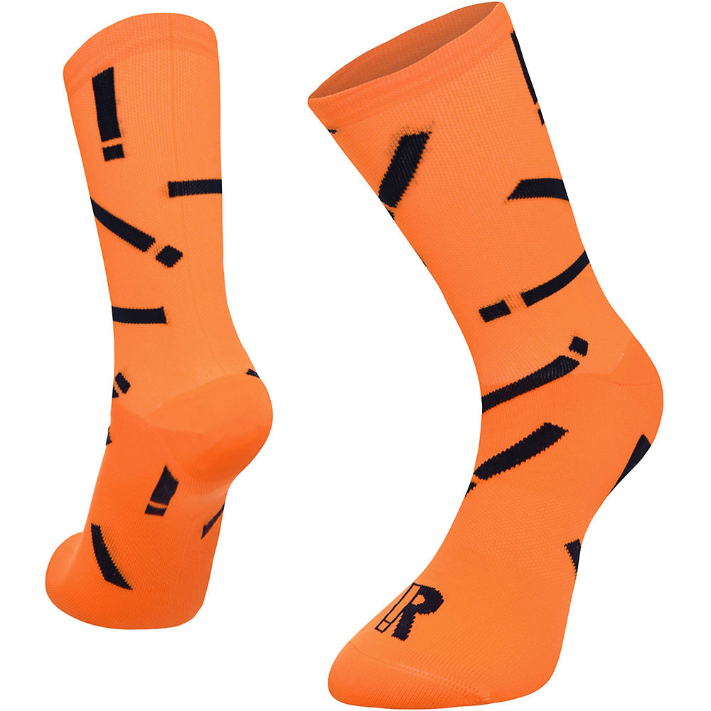 Image of Chaussettes Ratio Exclamation (20 cm) - Fluro Orange/Bleu marine - M/L, Fluro Orange/Bleu marine