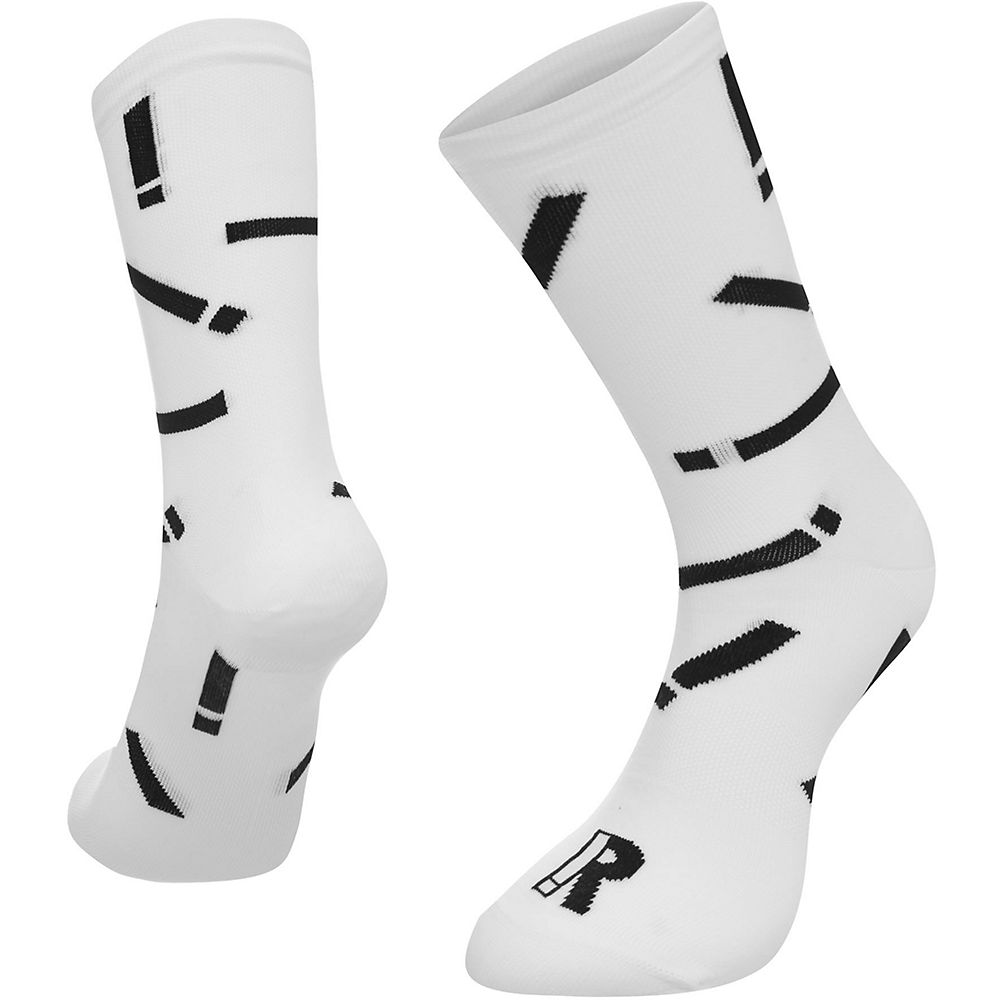 Image of Chaussettes Ratio Exclamation (20 cm) - Blanc-Noir - M/L, Blanc-Noir