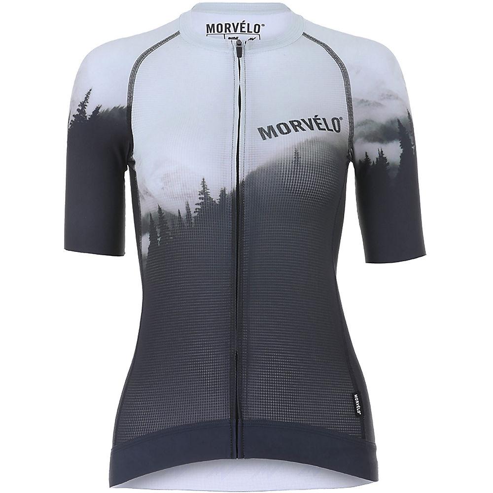 Morvelo Women's Void NTH Series SS Jersey  – Black-Grey – XL, Black-Grey