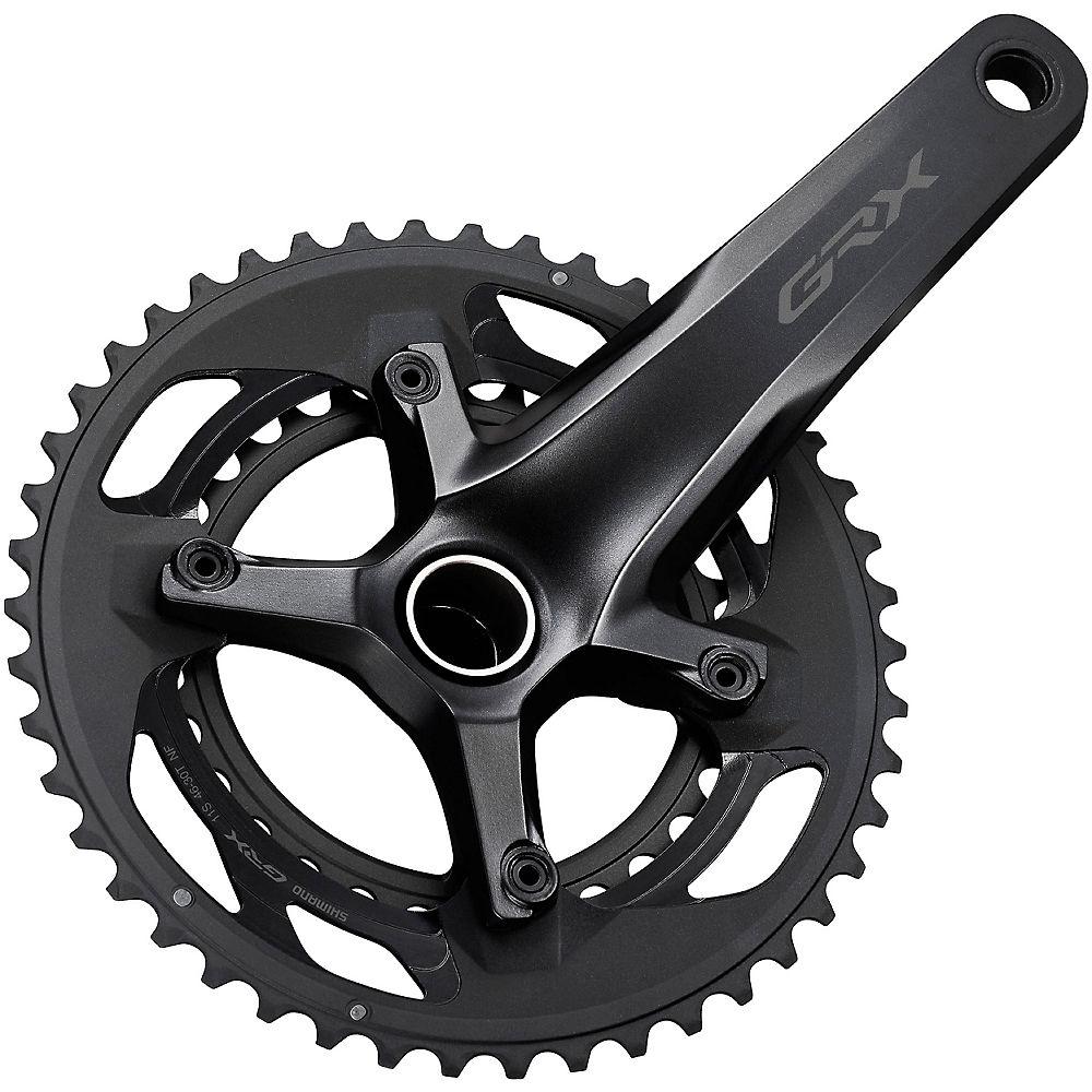Shimano GRX 600 2x11 Speed Gravel Bike Chainset - Black - 46/30T, Black