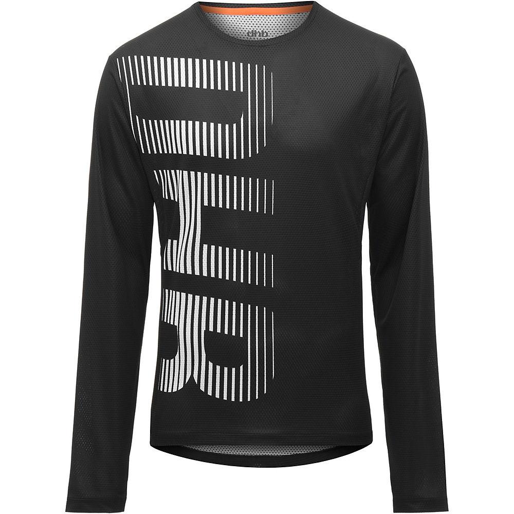 dhb MTB Long Sleeve Trail Jersey  - Black-Grey, Black-Grey