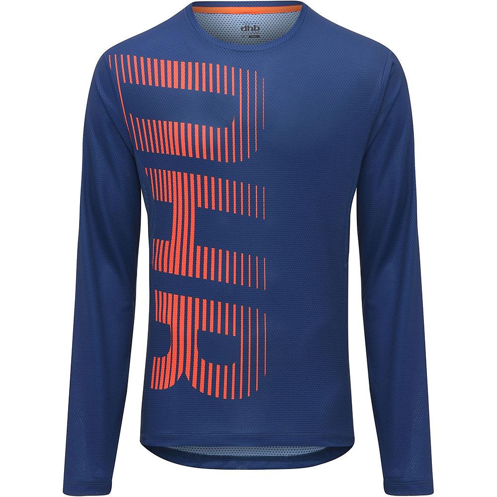 dhb MTB Long Sleeve Trail Jersey  - Blue-Orange - XXL, Blue-Orange