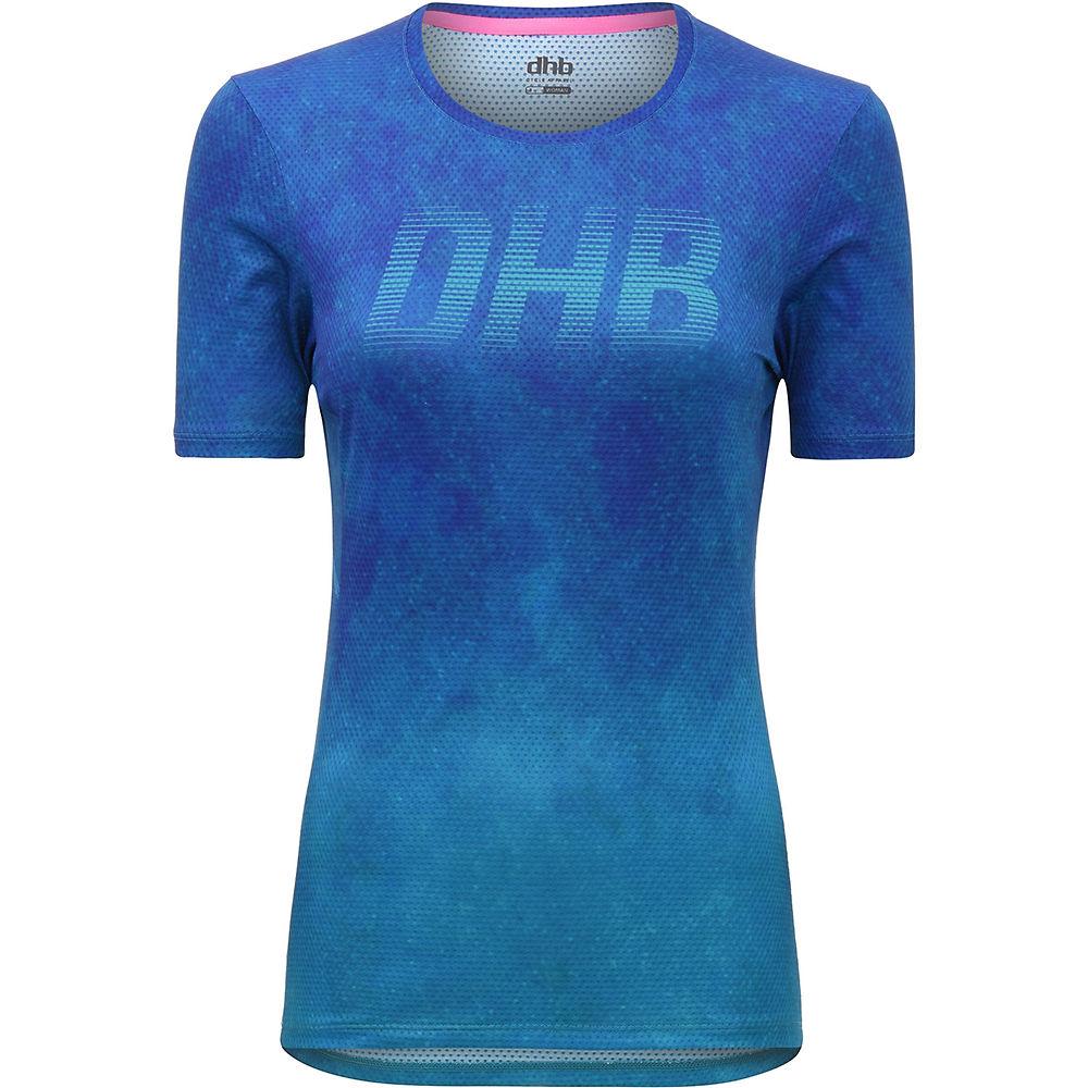 dhb MTB Womens Short Sleeve Trail Jersey - Blue - UK 10, Blue