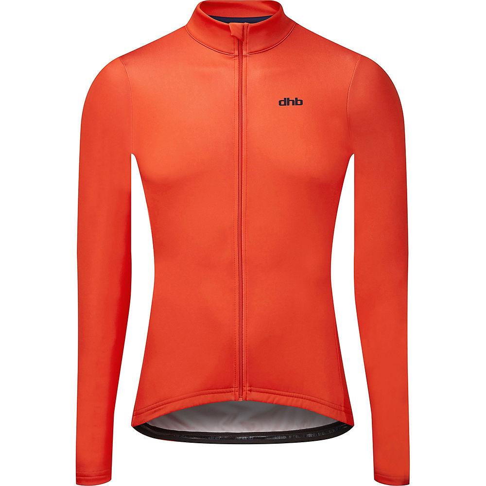 Dhb Classic Long Sleeve Jersey - Plain - Orange - M  Orange