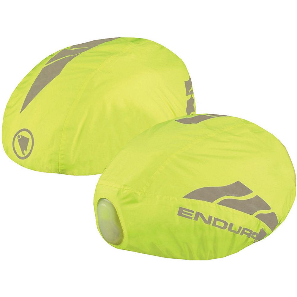 Cycling Endura Lumnite Helmet Cover & Luminite II LED - Hi-Viz Yellow-Reflective - L/XL/XXL, Hi-Viz Yellow-Reflective