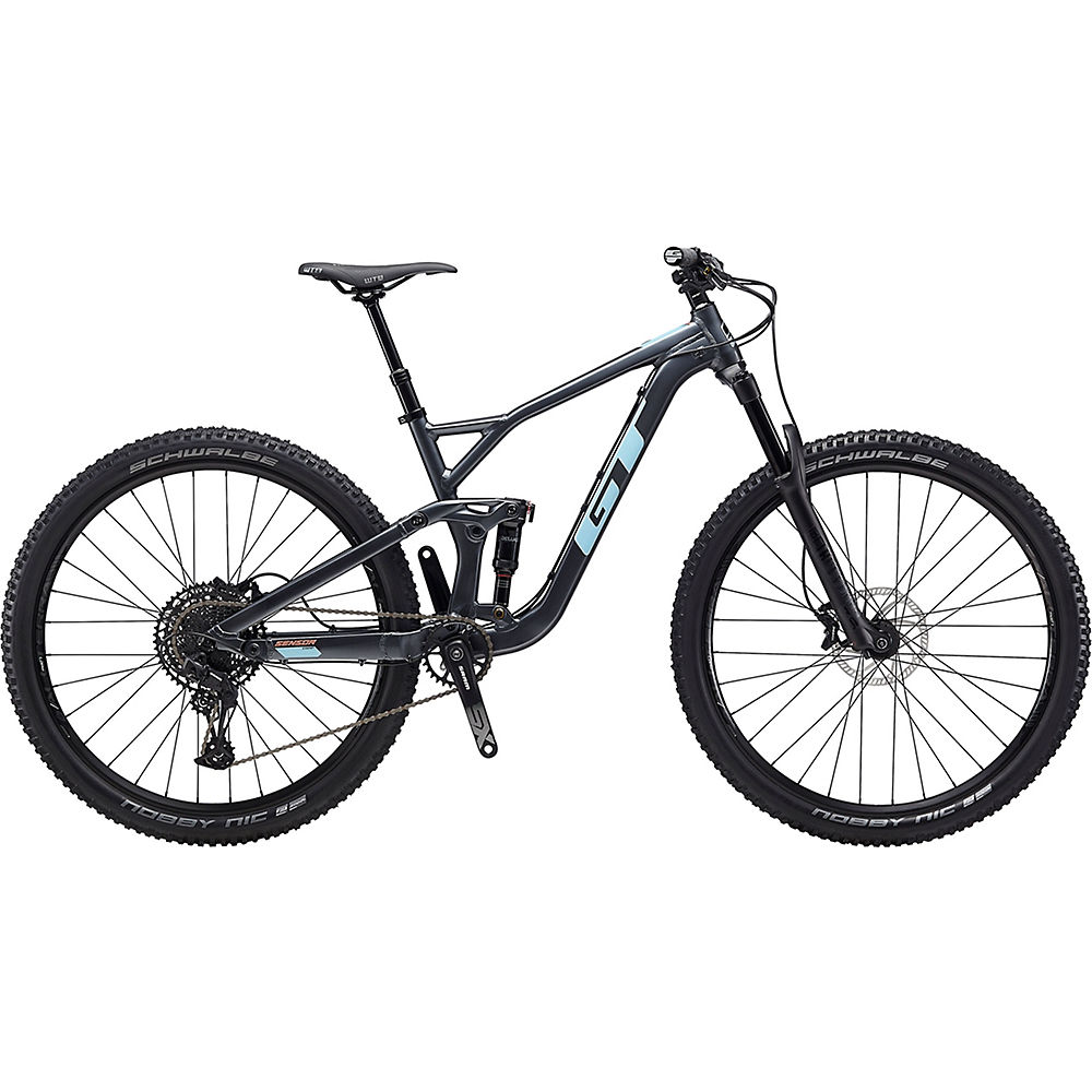 GT Sensor AL Comp Bike 2020 - Gunmetal - Sky Blue - XL