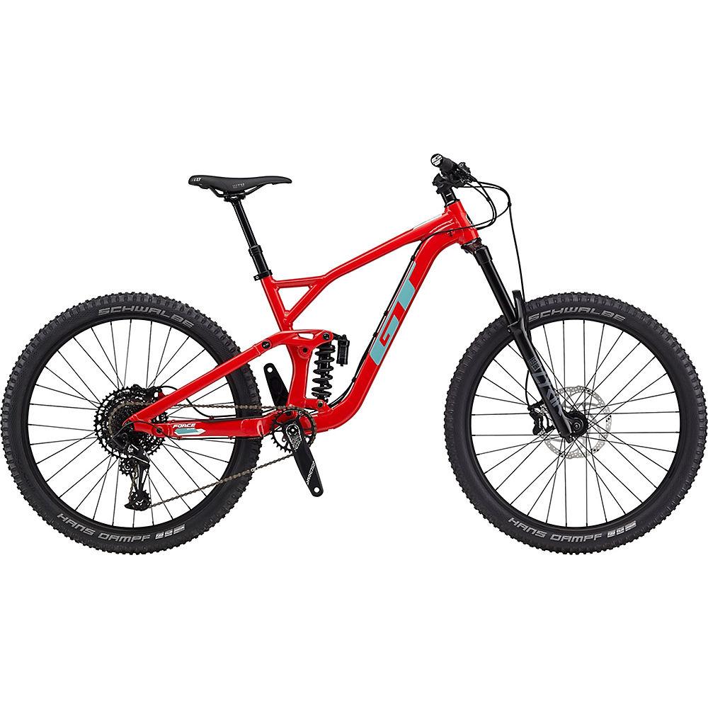 GT Force AL Elite 27.5 Bike 2020 - Gloss Red - White - XL, Gloss Red - White