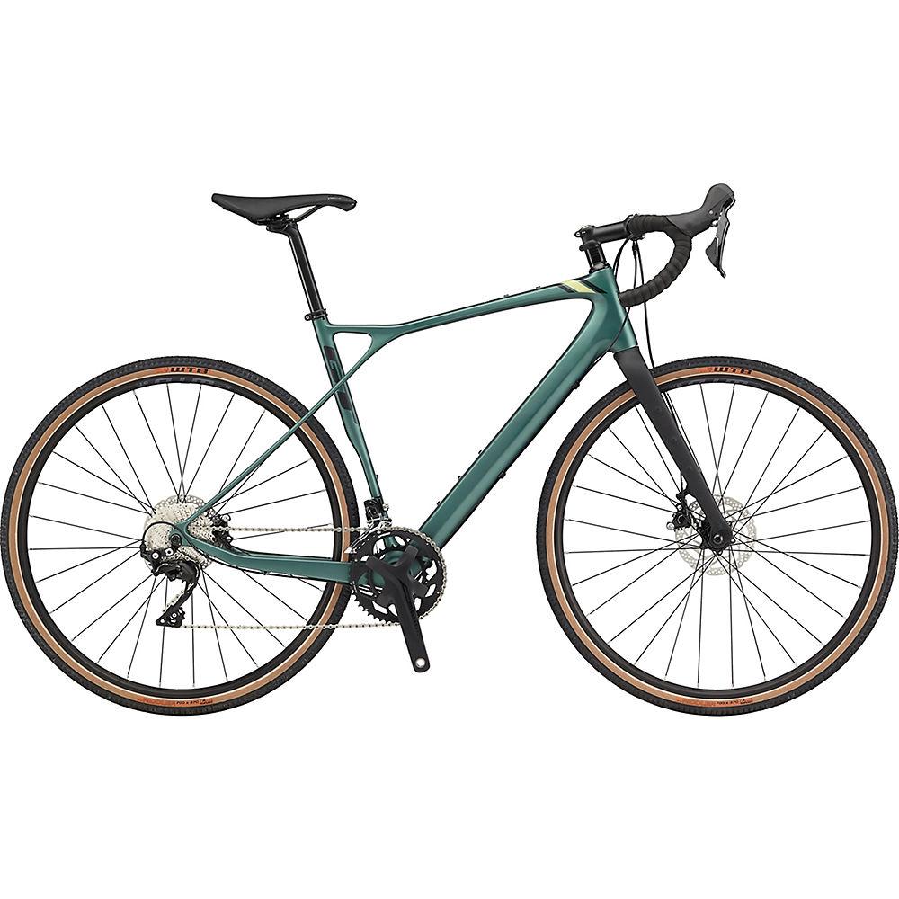 "GT Grade Carbon Expert Bike 2020 - Satin Jade - Black - 55cm (21.75""), Satin Jade - Black"