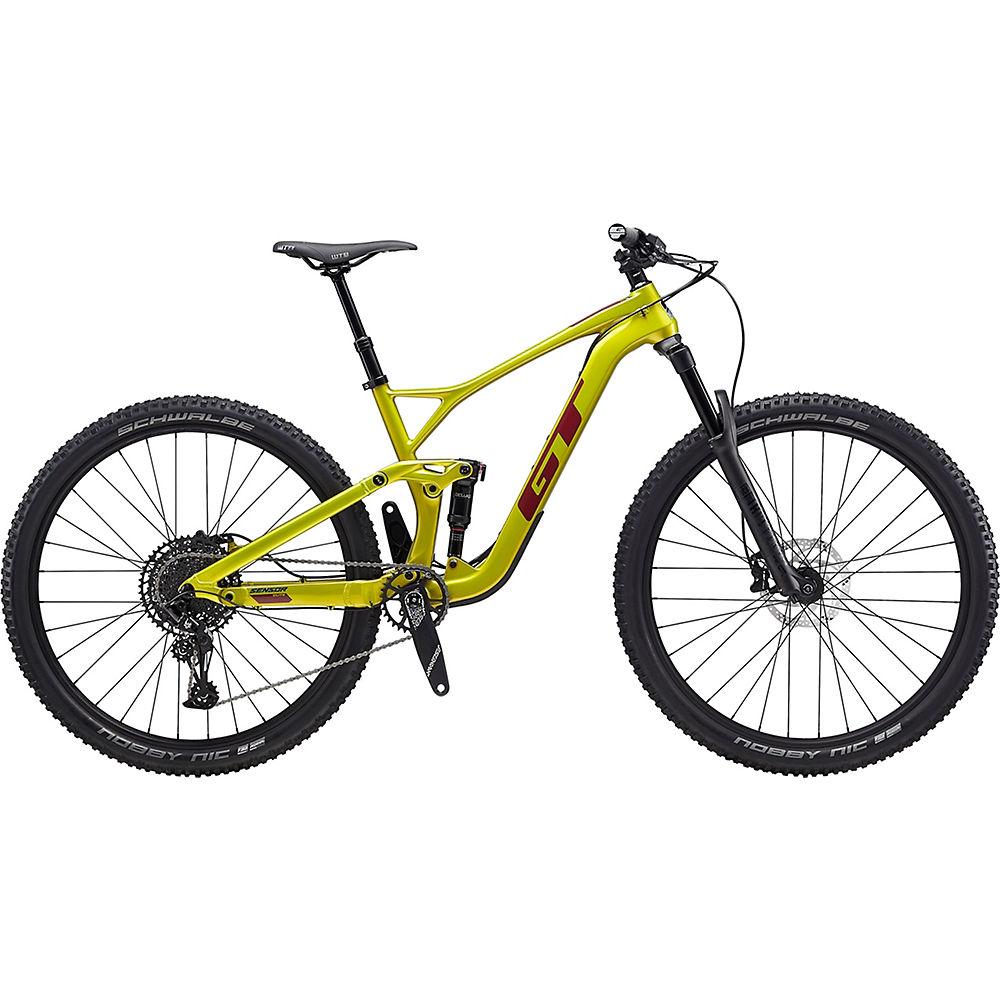 GT Sensor Carbon Elite Bike 2020 Limegold/Burgundy Chainreactioncycles