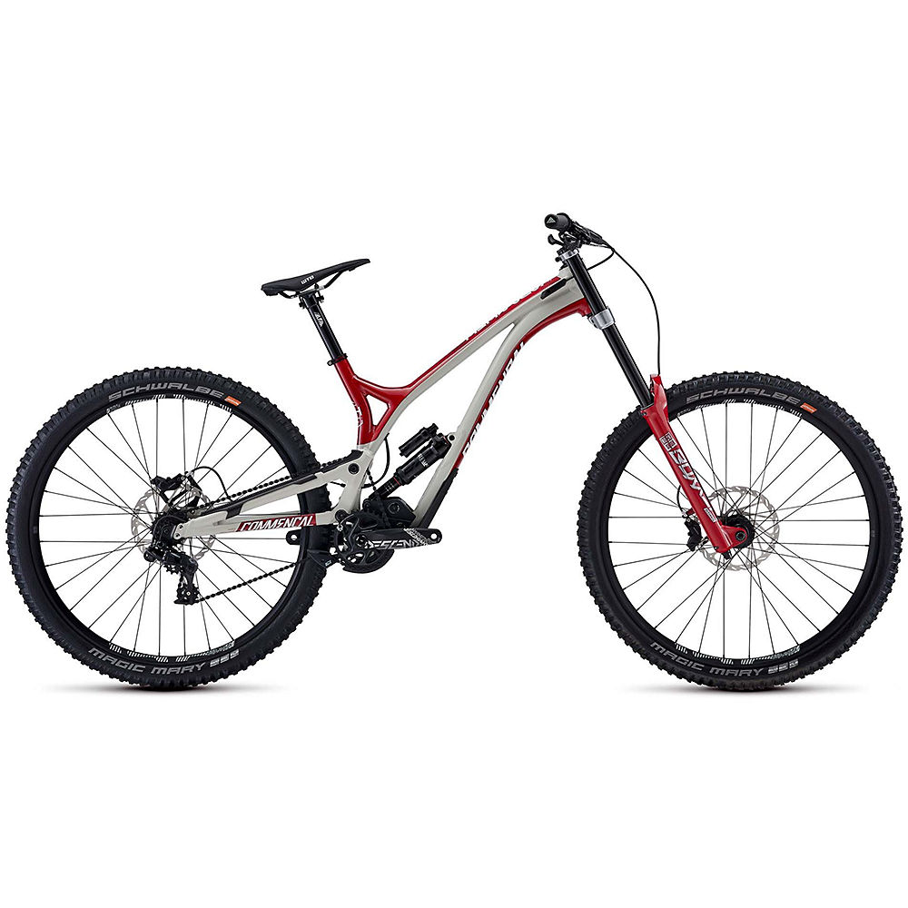 Image of Commencal Supreme DH 29 Team Suspension Bike 2020 - Chalk Grey - Boxxer Red, Chalk Grey - Boxxer Red