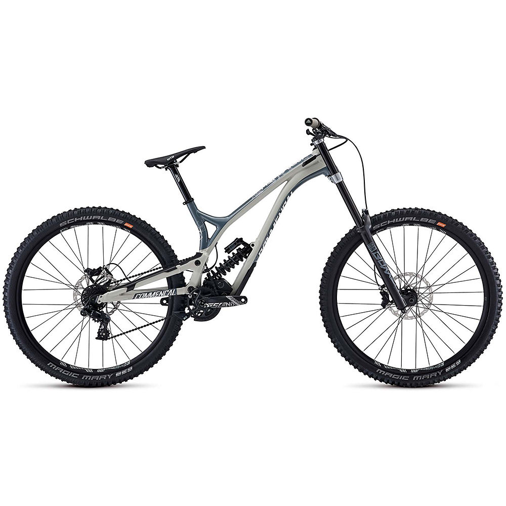 Image of Commencal Supreme DH 29 Race Suspension Bike 2020 - Chalk Grey - Nardo Grey, Chalk Grey - Nardo Grey