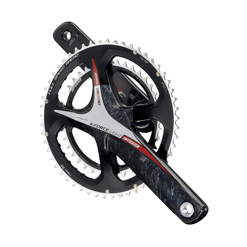 FSA K-Force 386Evo Double Chainset 2014 – Red – 53.39t, Red
