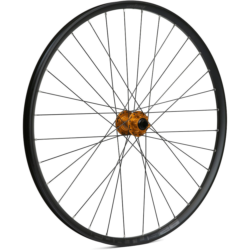 Image of Hope Fortus 26 Mountain Bike Front Wheel - Orange - 15 x 100mm, Orange