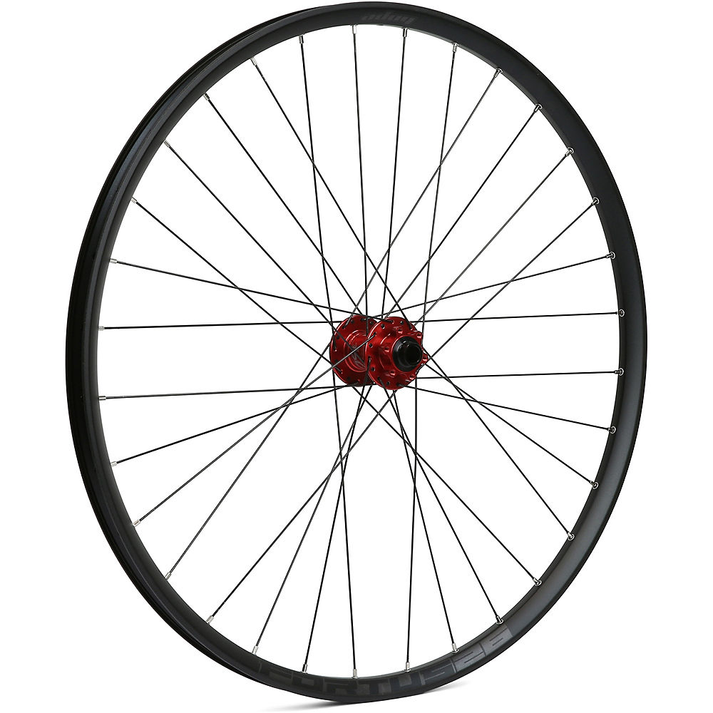 Hope Fortus 26 Mountain Bike Front Wheel - Red - 15 X 100mm  Red