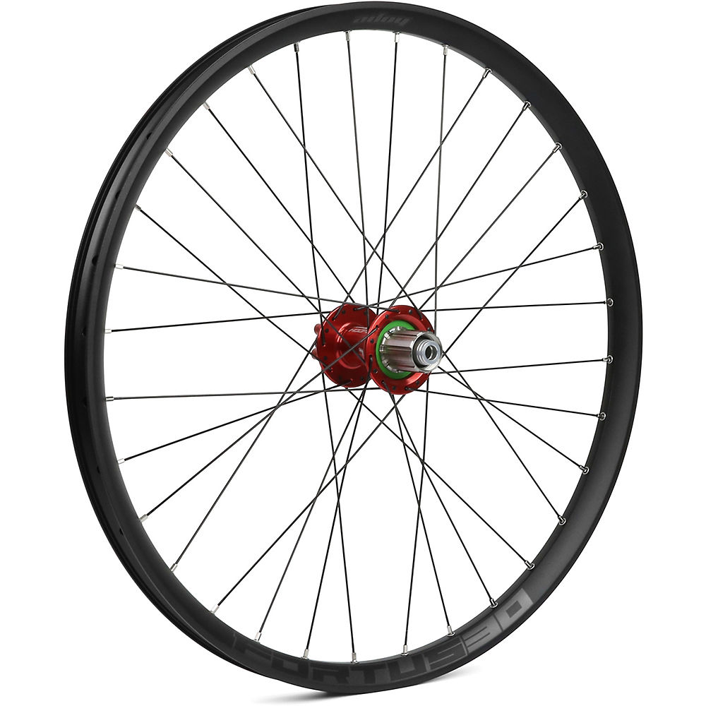 Hope Fortus 30 Mountain Bike Rear Wheel - Red - 12 X 142mm  Red