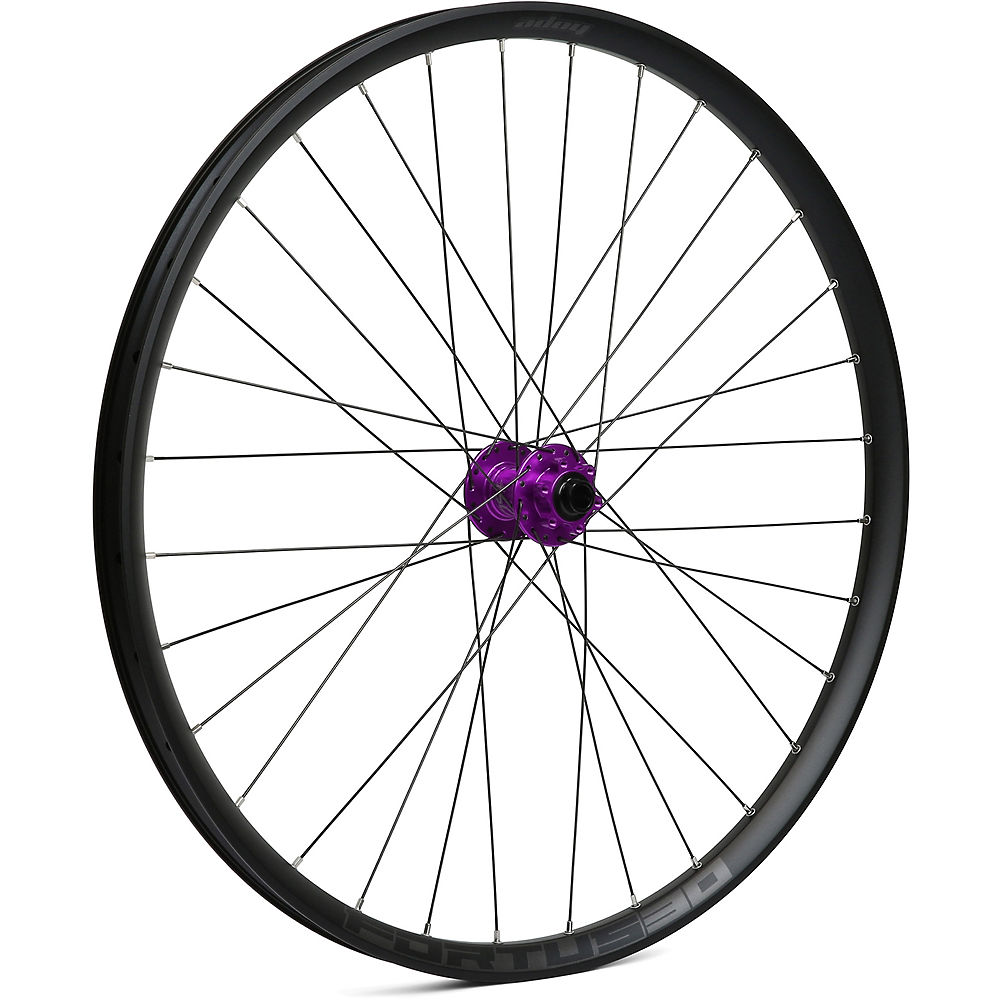 Hope Fortus 30 Mountain Bike Front Wheel - Purple - 15 X 100mm  Purple