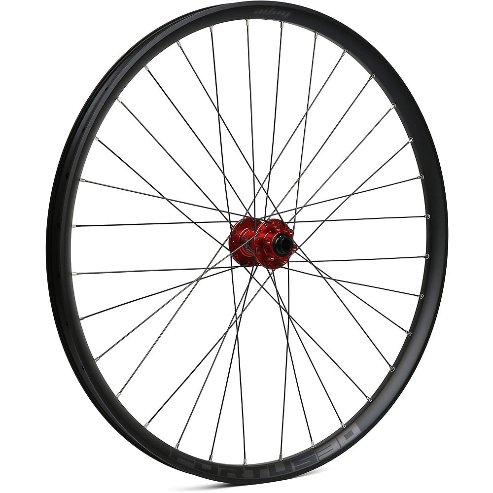 Hope Fortus 30 Mountain Bike Front Wheel - Red - 15 X 100mm  Red