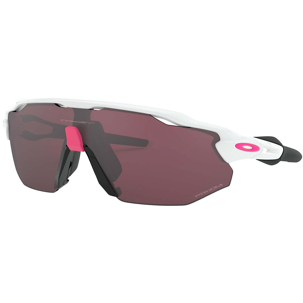 oakley radar ev advancer polished sunglasses  - polished white