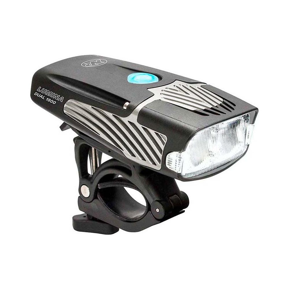 Nite Rider Lumina 1800 Dual Beam Front Light - Black  Black