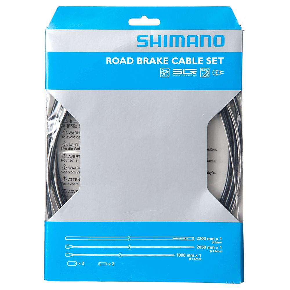 Shimano Road Brake Cable Set - Black, Black
