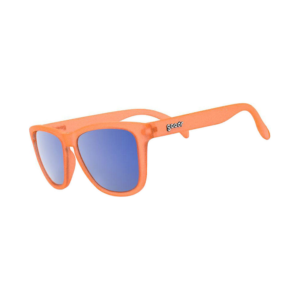 Image of Goodr The OGs Donkey Goggles Sunglasses 2019 - Orange w- Blue Lens, Orange w- Blue Lens