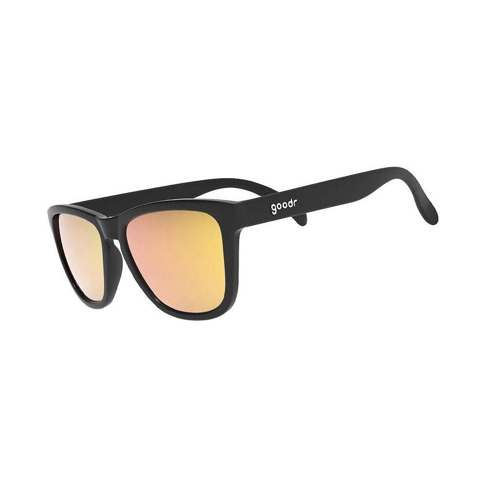 Image of Goodr The OGs Whiskey Shots Sunglasses 2019 - Black w- Amber Lens, Black w- Amber Lens