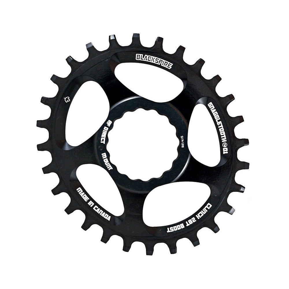 Image of Blackspire Snaggletooth Cinch Offset Oval Chainring - Noir - Direct Mount, Noir