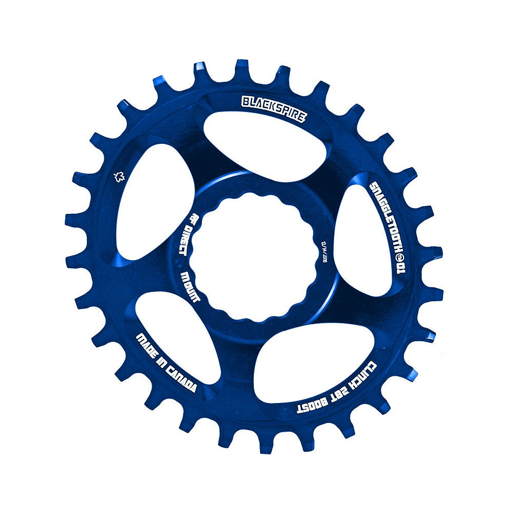 Image of Blackspire Snaggletooth Cinch Offset Oval Chainring - Bleu - Direct Mount, Bleu