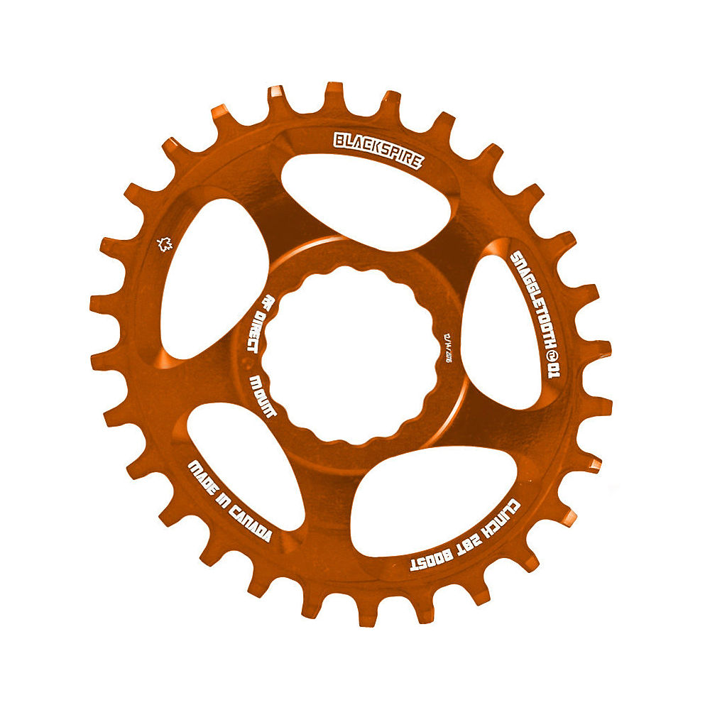 Image of Blackspire Snaggletooth Cinch Offset Oval Chainring - Orange - Direct Mount, Orange