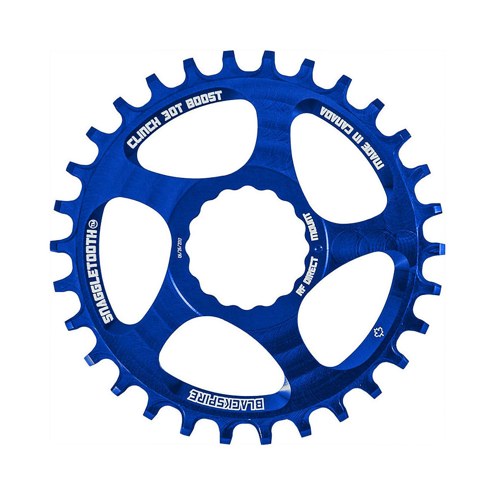 Image of Blackspire Snaggletooth NW Cinch Chainring BOOST - Bleu - Direct Mount, Bleu