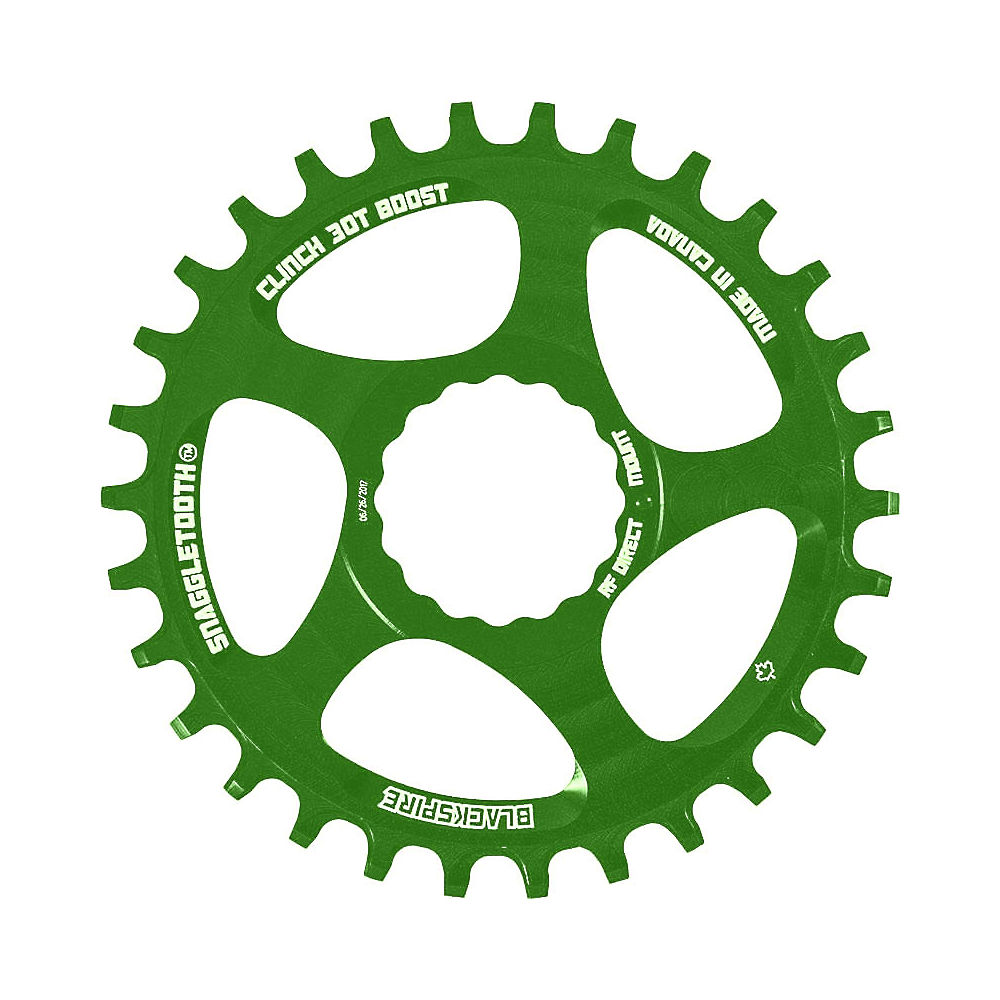 Image of Blackspire Snaggletooth NW Cinch Chainring BOOST - Citron Vert - Direct Mount, Citron Vert